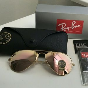 COPPER FLASH RAY-BAN AVIATOR 100% AUTHENTIC